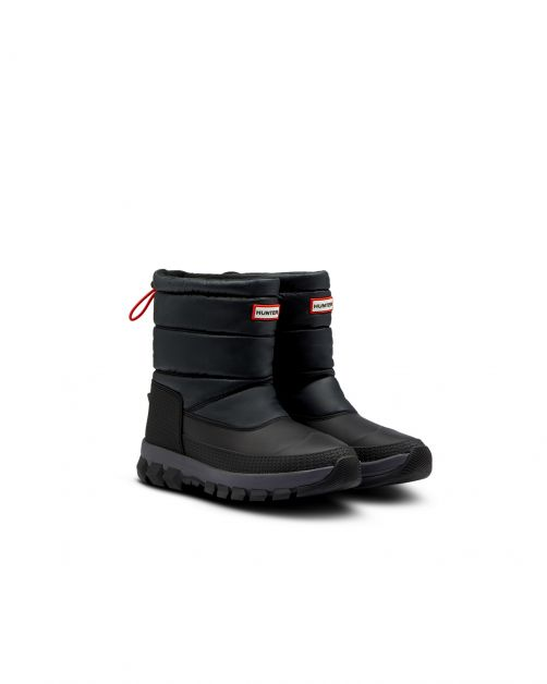 Hunter---Short-Snowboots-for-men---Original-Insulated---Black