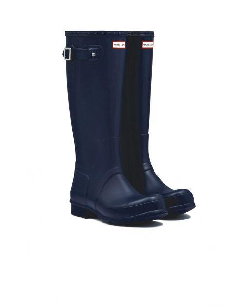 Hunter---Regenlaarzen-voor-heren---Original-Tall-Wellington---Marineblauw