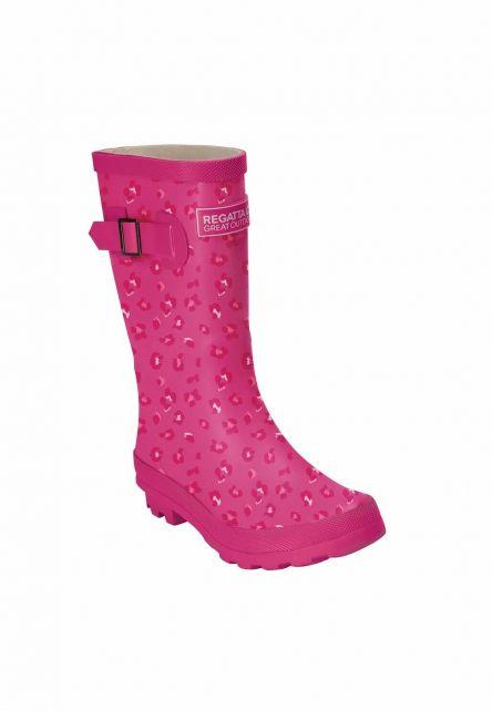 Regatta---Regenlaarzen-voor-kinderen---Fairweather-Junior---Roze/Dierenprint
