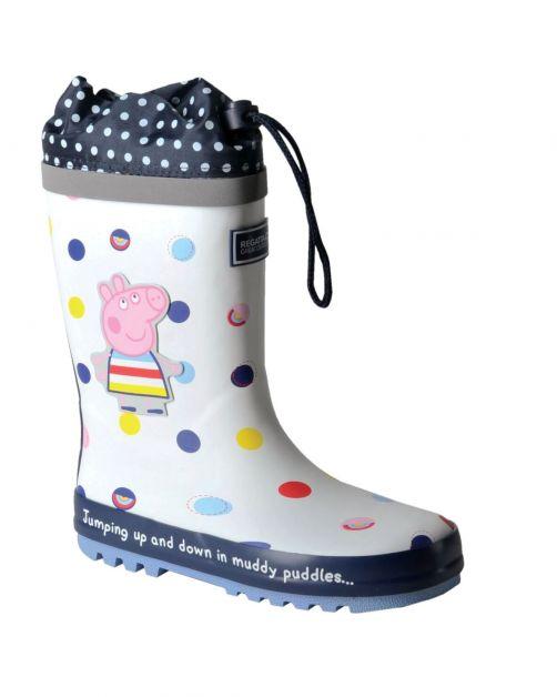 Regatta---Regenlaarzen-voor-kinderen---Peppa-Pig-Splash---Polka-Wit