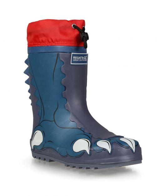 Regatta---Regenlaarzen-voor-kinderen---Mudplay---Dino---Donkerblauw