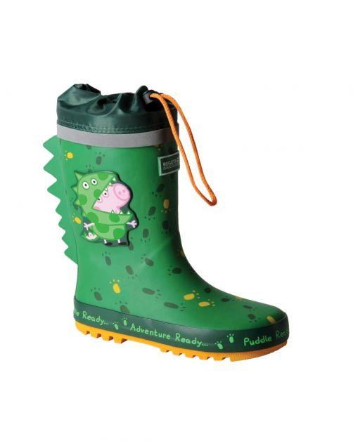 Regatta---Regenlaarzen-voor-kinderen---Peppa-Pig-Puddle---Dino-groen
