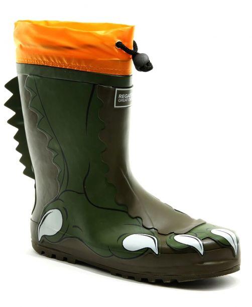 Regatta---Regenlaarzen-voor-kinderen---Mudplay---Dino---Donkergroen