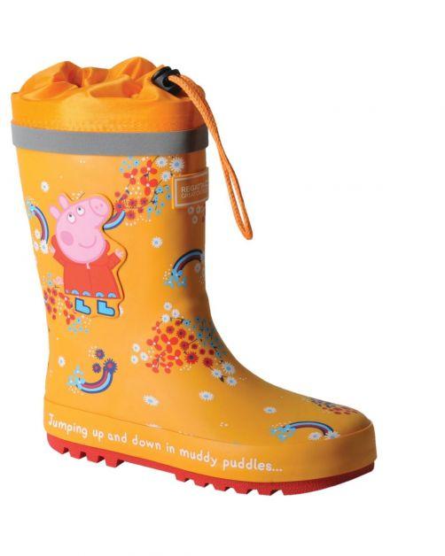 Regatta---Regenlaarzen-voor-kinderen---Peppa-Pig-Splash---Oranje/Bloemen