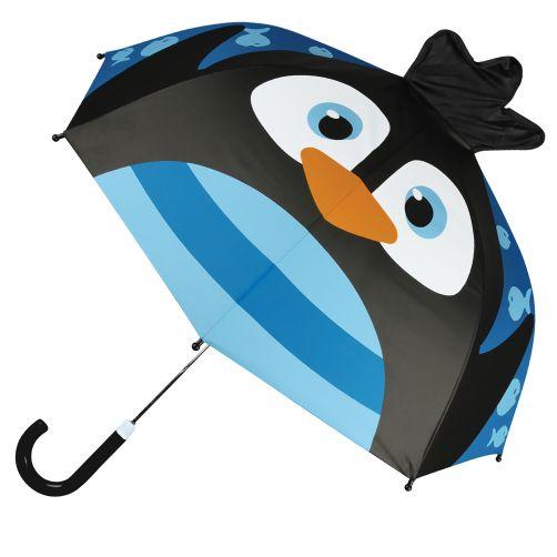 Stephen-Joseph---Pop-up-paraplu-voor-kinderen---Pinguïn---Blauw