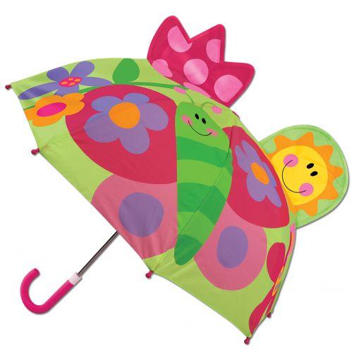 Stephen-Joseph---Pop-up-paraplu-voor-kinderen---Vlinder---Groen