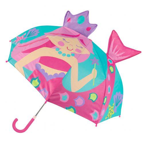 Stephen-Joseph---Pop-up-paraplu-voor-meisjes---Zeemeermin---Turquoise