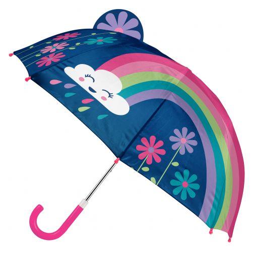 Stephen-Joseph---Pop-up-paraplu-voor-meisjes---Regenboog---Donkerblauw