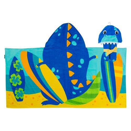 Stephen-Joseph---Handdoek-met-capuchon-voor-kinderen---Dino