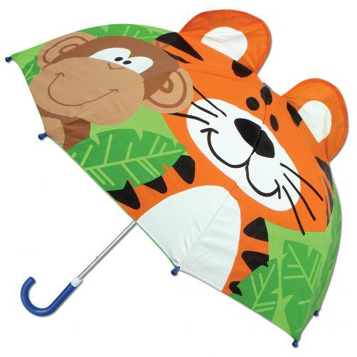 Stephen-Joseph---Pop-up-paraplu-voor-kinderen---Dierentuin---Groen