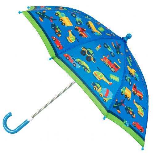 Stephen-Joseph---Paraplu-voor-jongens---Voertuigen---Blauw/Groen
