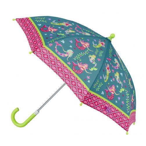 Stephen-Joseph---Paraplu-voor-meisjes---Zeemeermin---Turquoise/Multi