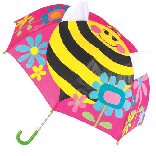 Stephen-Joseph---Pop-up-paraplu-voor-meisjes---Bij---Roze