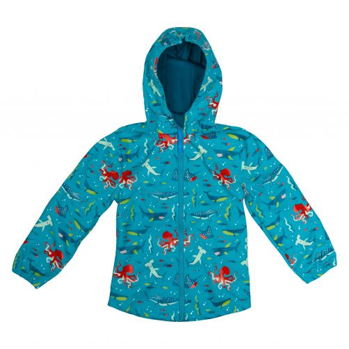 Stephen-Joseph---Regenjas-voor-jongens---Haai---Lichtblauw