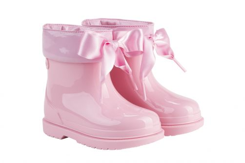 Igor---Regenlaarzen-voor-meisjes---Bimbi-Lazo-hoogglans-met-strik---Roze