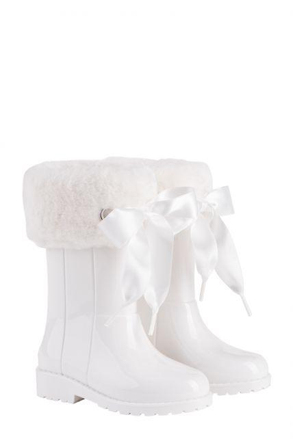 Igor---Regenlaarzen-voor-meisjes---Campera-Charol-Soft-hoogglans-met-strik---Wit