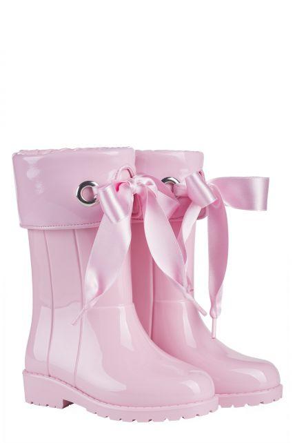 Igor---Regenlaarzen-voor-meisjes---Campera-Charol-hoogglans-met-strik---Roze