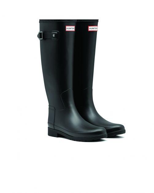 Hunter---Refined-rainboots-for-women---Slim-Fit-Tall-Wellington---Black