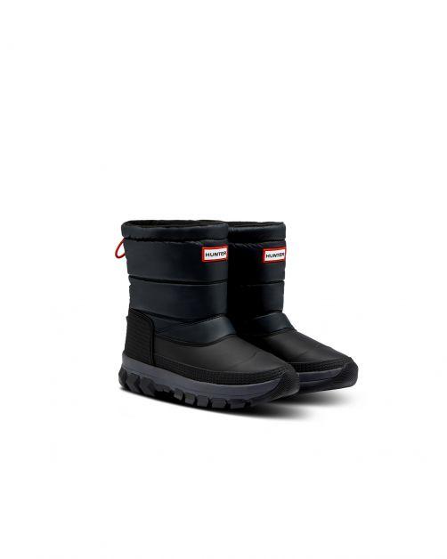 Hunter---Short-Snowboots-for-women---Original-Insulated---Black