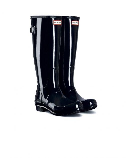 Hunter---Verstelbare-regenlaarzen-voor-dames---Originall-Tall---Glanzend-Zwart